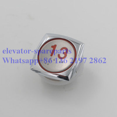 DC 24V Elevator Spare Parts , Stainless Steel A40 Braille Elevator Buttons